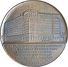 Franklin Medal Curtis Publishing reverse