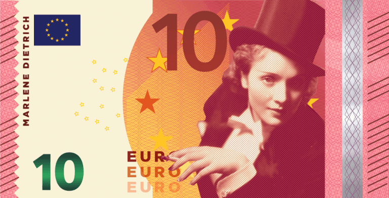Marlene-Dietrich-10-Euro Fantasy note