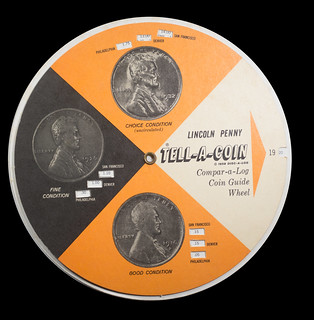 Tell-A-Coin guide wheel for Lincoln cents