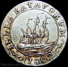 Ship on coin