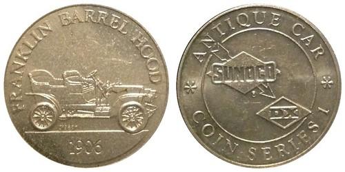 Sunoco Franklin Barrel Hood Antique Car Coin Series token