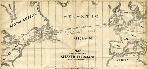 MAp of the Atlantic Telegraph cable