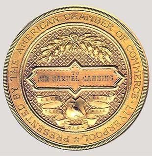 Samuel Canning Atlantic Telegraph Medal reverse