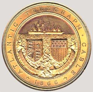 Samuel Canning Atlantic Telegraph Medal obverse