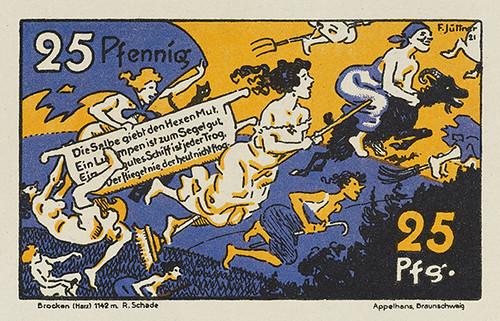 1922 Brocken, Germany notgeld 25 pfennig