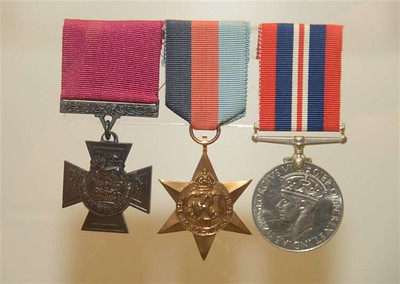 Sgt Thomas Durrant's medals with the Victoria Cross
