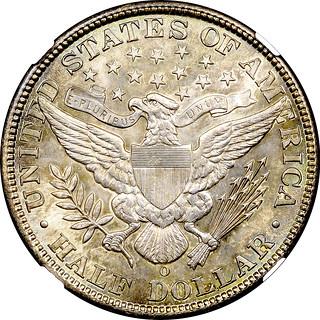 1907-O Half Dollar reverse