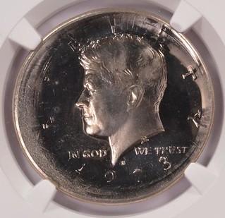 1973-S Kennedy Half Proof Broadstruck obverse