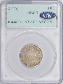 1796 Dime in old holder