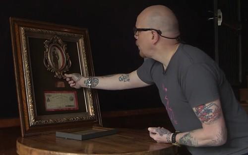 Emperor Norton note in frame