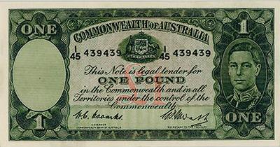 Australia 1949 1 Pound Banknote