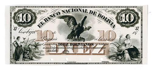 Bolivia 1973 Cobija Proof Banknote