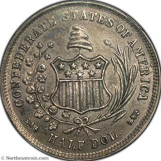 1861 50c Confederate States of America Restrike obverrse