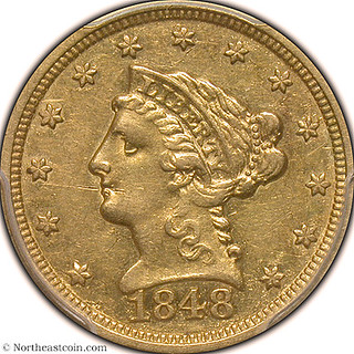 1848 $2.50 CAL. Gold Liberty