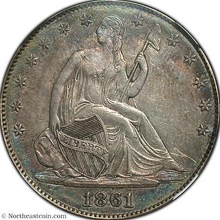 1861 50c Confederate States of America Restrike reverrse