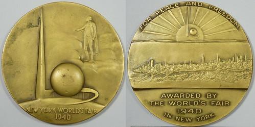 1940 World's Fair Award Medal Prototype