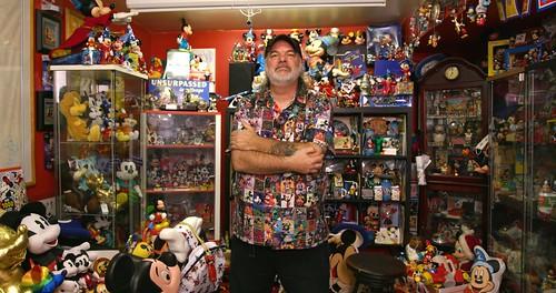 Mickey Mouse collector Paul Bottos