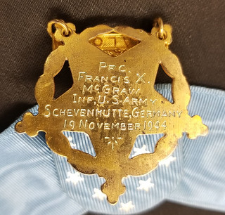 Francis McGraws Medal of Honor reverse