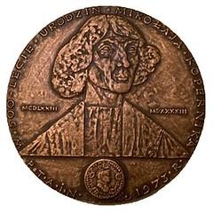500 anniversary of Copernicus birth medal obverse