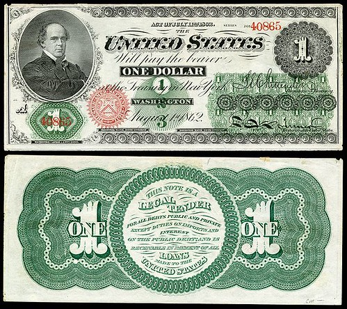 1862 One Dollar greenback