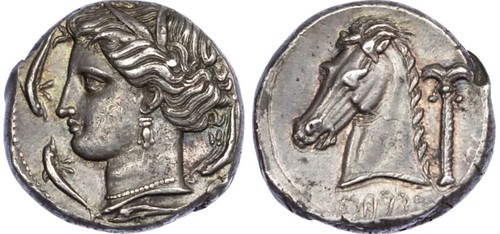 Sicily Siculo-Punic Silver Tetradrachm