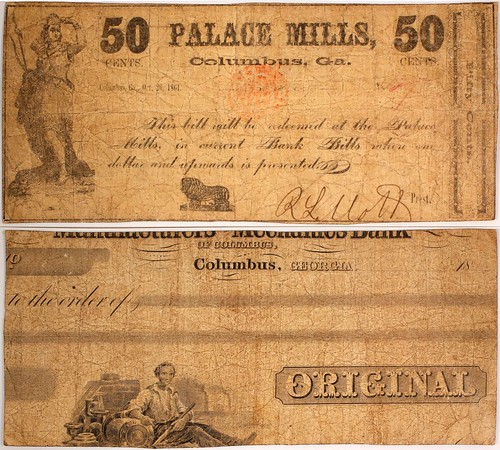 Palace Mills 50 Cent Scrip Note
