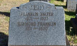 Franklin Walter Reid tombstone