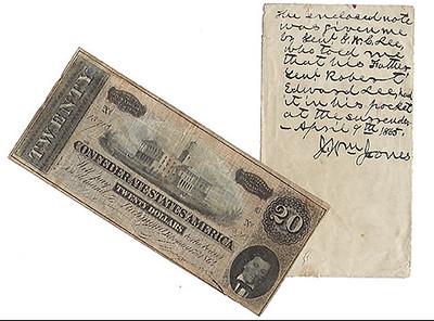 Robert E. Lee's $20 Confederate note