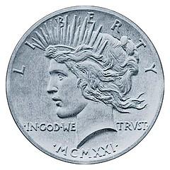 Original Peace Dollar obverse design