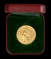 coin inside Presentation holiday box