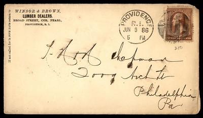 WINSOR, R. B. letter