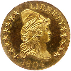 1804 $10 King of Siam obverse