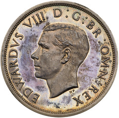 1937 Edward VIII silver Proof Crown obverse