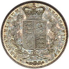 1839 Victoria Proof Crown reverse