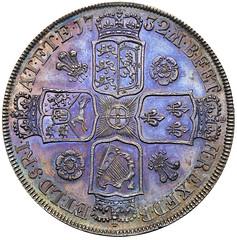 1732 George II Proof Crown reverse