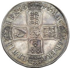 1696 William III Proof Crown reverse