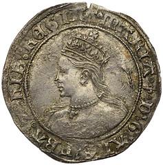 1553 Mary Tudor shilling of Ireland obverse