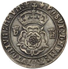 Henry VIII silver testoon reverse
