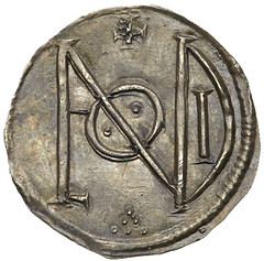 Alfred the Great silver penny reverse