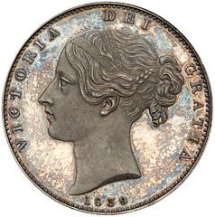 1839 Victoria Proof Crown obverse