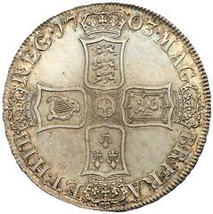 1703 Anne Vigo Crown reverse