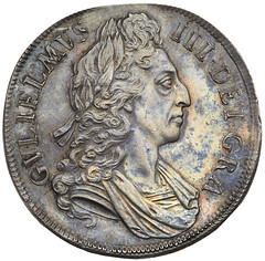 1696 William III Proof Crown obverse