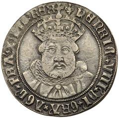 Henry VIII silver testoon obverse