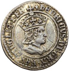 Henry VII silver testoon obverse