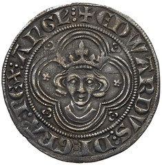 Edward I silver groat obverse