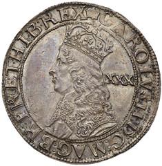 Charles II hammered Halfcrown obverse