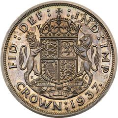 1937 Edward VIII silver Proof Crown reverse