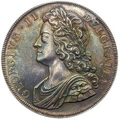 1732 George II Proof Crown obverse