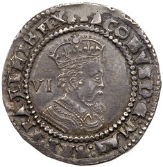 1623 James I Heavy Weight silver Sixpence obverse