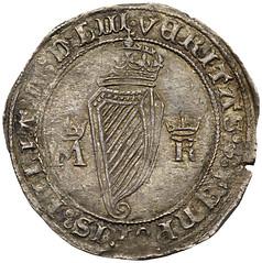 1553 Mary Tudor shilling of Ireland reverse